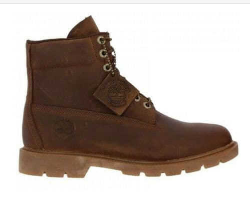 Timberland Mens 6 Inch Waterproof Brown Nubuck Leather Boots Style A29DV